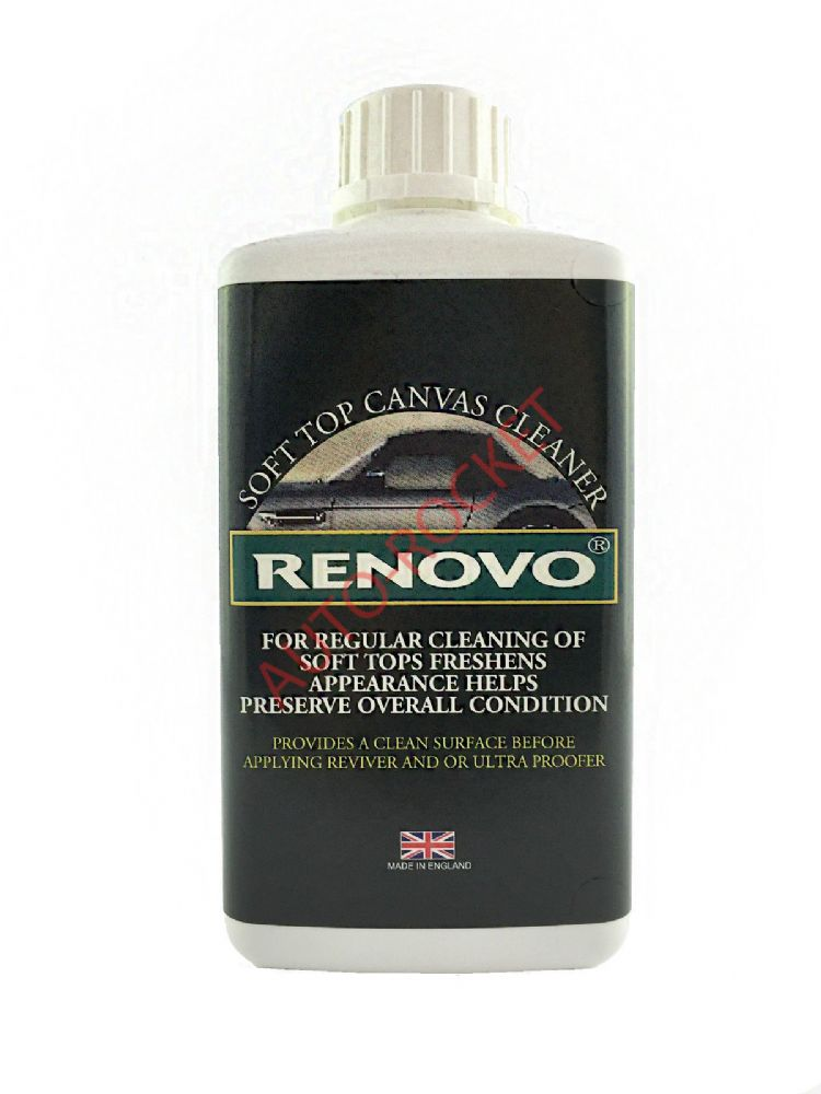 Renovo Soft Top Canvas Cleaner 500ml Deep Cleaning